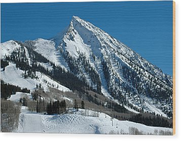 Mt Crested Butte Wood Print