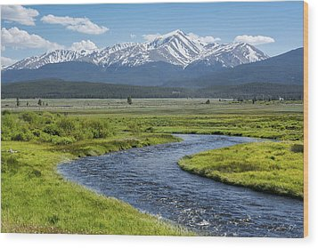 Mt. Elbert - Spring Wood Print