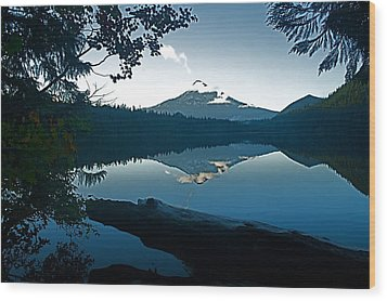 Mt. Hood Dawn Reflection Wood Print by Todd Kreuter