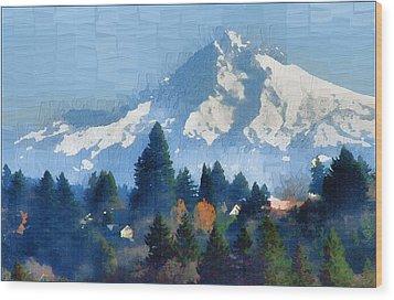 Mt. Hood  Wood Print by Margaret Hood