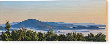 Mt. Jefferson Cloud Lake Wood Print by Dale R Carlson