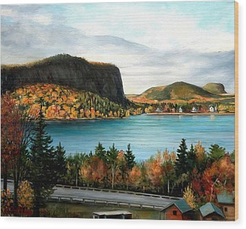 Mt. Kineo, Rockwood, Maine Wood Print