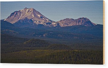 Mt Lassen And Chaos Crags Wood Print