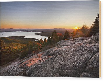 Mt. Major Summit Wood Print