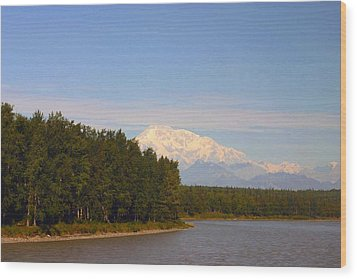Wood Print featuring the photograph Mt. Mckinley Alasa 0755 by Jack G  Brauer