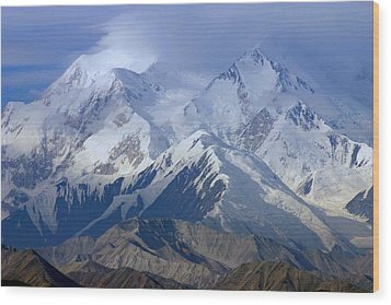 Wood Print featuring the photograph Mt. Mckinley Alaska by Jack G  Brauer