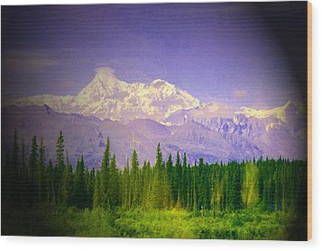 Wood Print featuring the photograph Mt Mckinley Ambiance by Jack G  Brauer