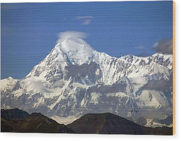 Mt. Mckinley Circling Wind Wood Print