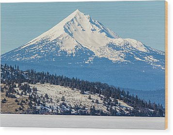 Wood Print featuring the photograph Mt. Mcloughlin by Marc Crumpler