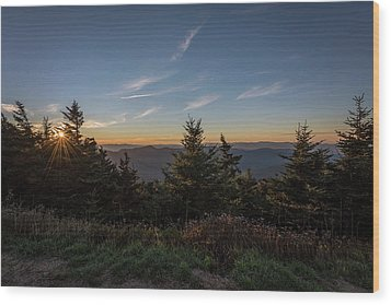 Wood Print featuring the photograph Mt Mitchell Sunset North Carolina 2016 by Terry DeLuco