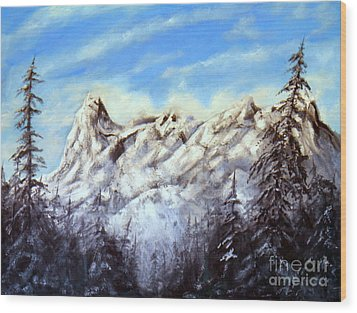 Mt Nusatsum Wood Print