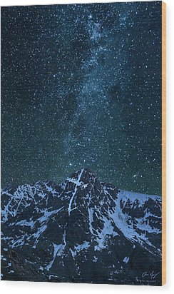 Wood Print featuring the photograph Mt. Of The Holy Cross Milky Way by Aaron Spong