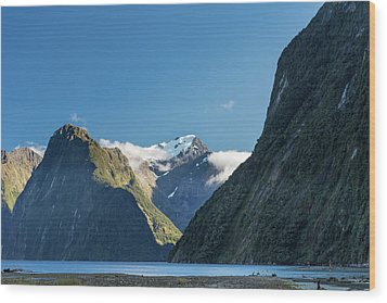 Wood Print featuring the photograph Mt Pembroke Glacier by Gary Eason