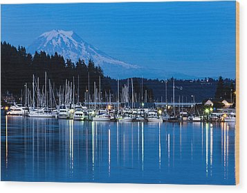 Mt. Rainier From Gig Harbor Wood Print
