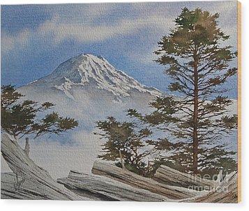 Mt. Rainier Landscape Wood Print by James Williamson