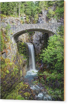 Mt Rainier National Park, Christine Falls Wood Print