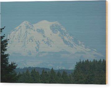 Mt Rainier Washington Wood Print by Laurie Kidd