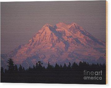 Mt. Rainier Washington Wood Print by Robert  Torkomian