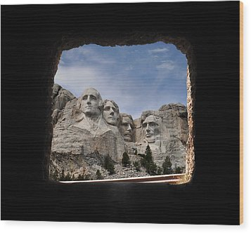 Wood Print featuring the photograph Mt Rushmore Tunnel by David Lawson