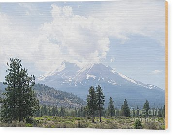 Wood Print featuring the photograph Mt Shasta California Dsc5035 by Wingsdomain Art and Photography