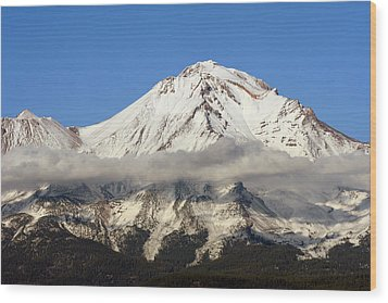 Mt. Shasta Summit Wood Print by Holly Ethan
