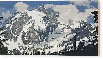 Mt. Shucksan Wood Print by Larry Darnell