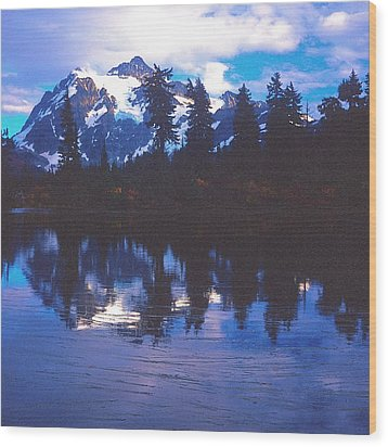 Mt. Shuksan - Picture Lake Wood Print
