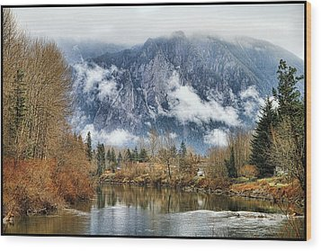Wood Print featuring the photograph Mt Si by Ken Stanback
