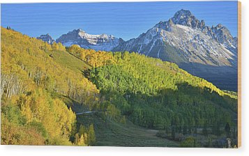 Wood Print featuring the photograph Mt. Sneffels From County Road 7 by Ray Mathis