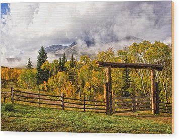 Mt Sopris Under The Clouds Wood Print