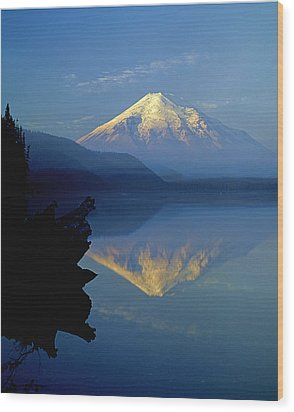 1m4907-v-mt. St. Helens Reflect V  Wood Print