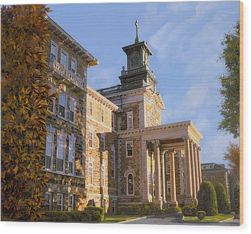 Mt St.mary Academy Wood Print by Guido Borelli