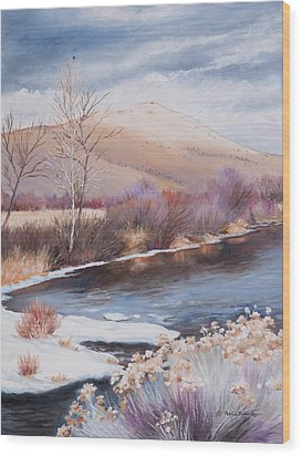 Mt. Vernon And The John Day River Wood Print