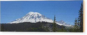 Mt.rainier Wood Print by Scott Cameron