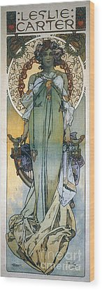 Mucha: Theatrical Poster Wood Print by Granger