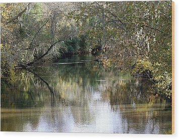 Wood Print featuring the photograph Muckalee Creek by Jerry Battle