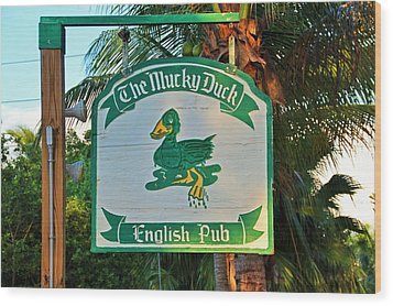 Mucky Duck I Wood Print