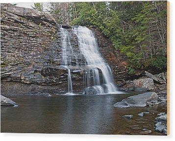 Muddy Creek Falls In Swallow Falls State Park Maryland Wood Print by Brendan Reals