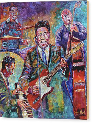 Muddy Waters And His Band Wood Print by Debra Hurd
