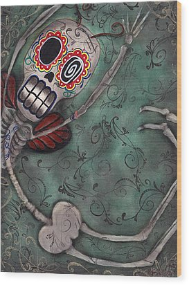 Muerte Fairy Wood Print by  Abril Andrade Griffith
