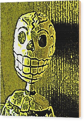 Wood Print featuring the photograph Muertos 1 by Pamela Cooper