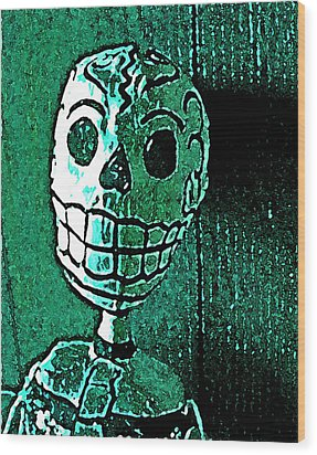 Wood Print featuring the photograph Muertos 4 by Pamela Cooper