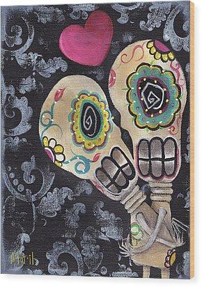 Muertos De Amor Wood Print