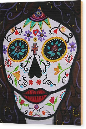 Wood Print featuring the painting Muertos by Pristine Cartera Turkus