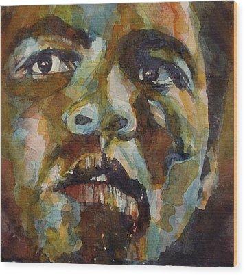Muhammad Ali   Wood Print by Paul Lovering