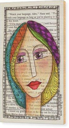 Mujer Wood Print by Delein Padilla