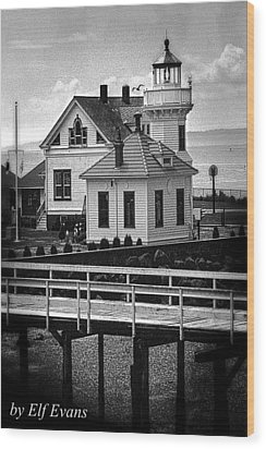 Wood Print featuring the photograph Mukilteo Lighthouse by Elf Evans