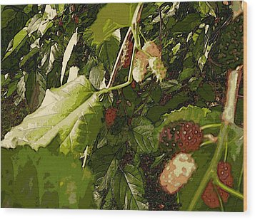 Mulberry Moment Wood Print by Winsome Gunning