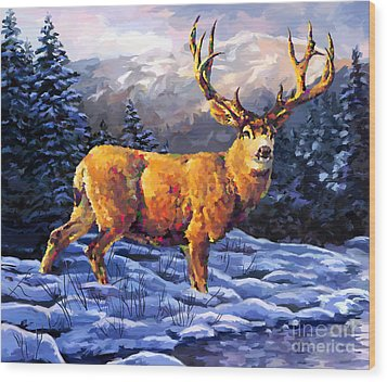 Mule Deer 2 Wood Print
