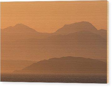 Mull Sunrise Wood Print